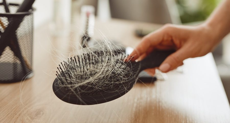 close up of a hair brush
