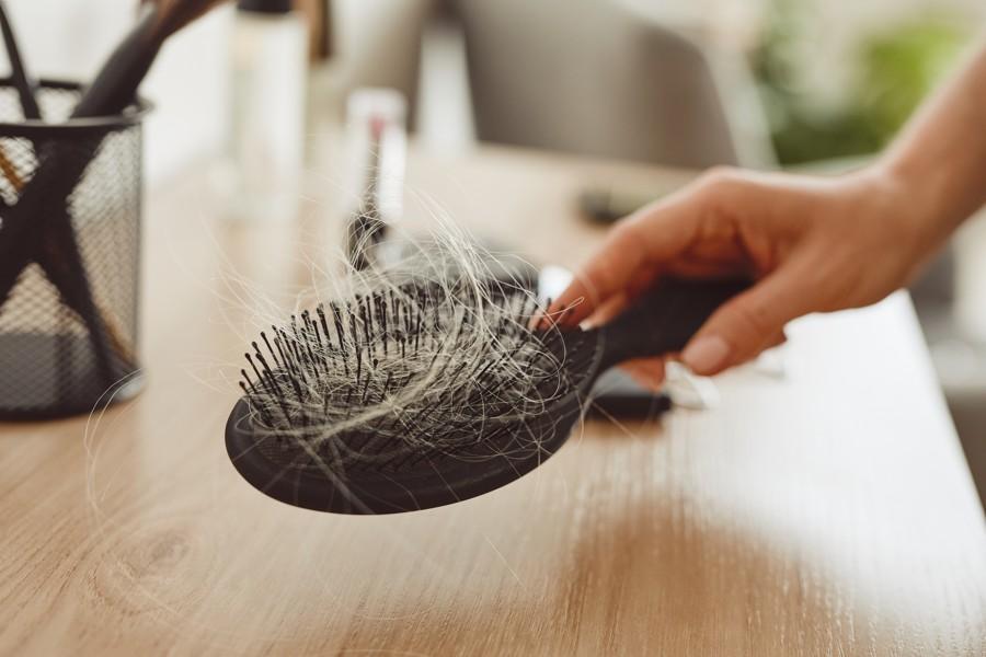 close up of a hair brush