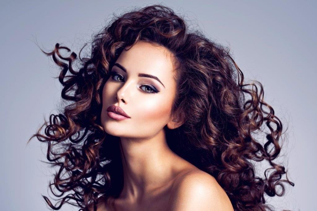 woman with Darkest brown hair